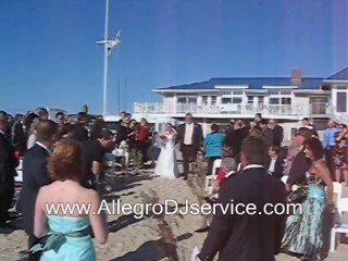 Cape Cod DJ Steel Drum Beach Wedding Ceremony.