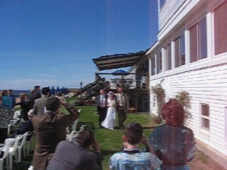 Cape Cod Wedding Ceremony,	The Lighthouse Inn, West Dennis.
